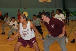 Playing Basket Ball